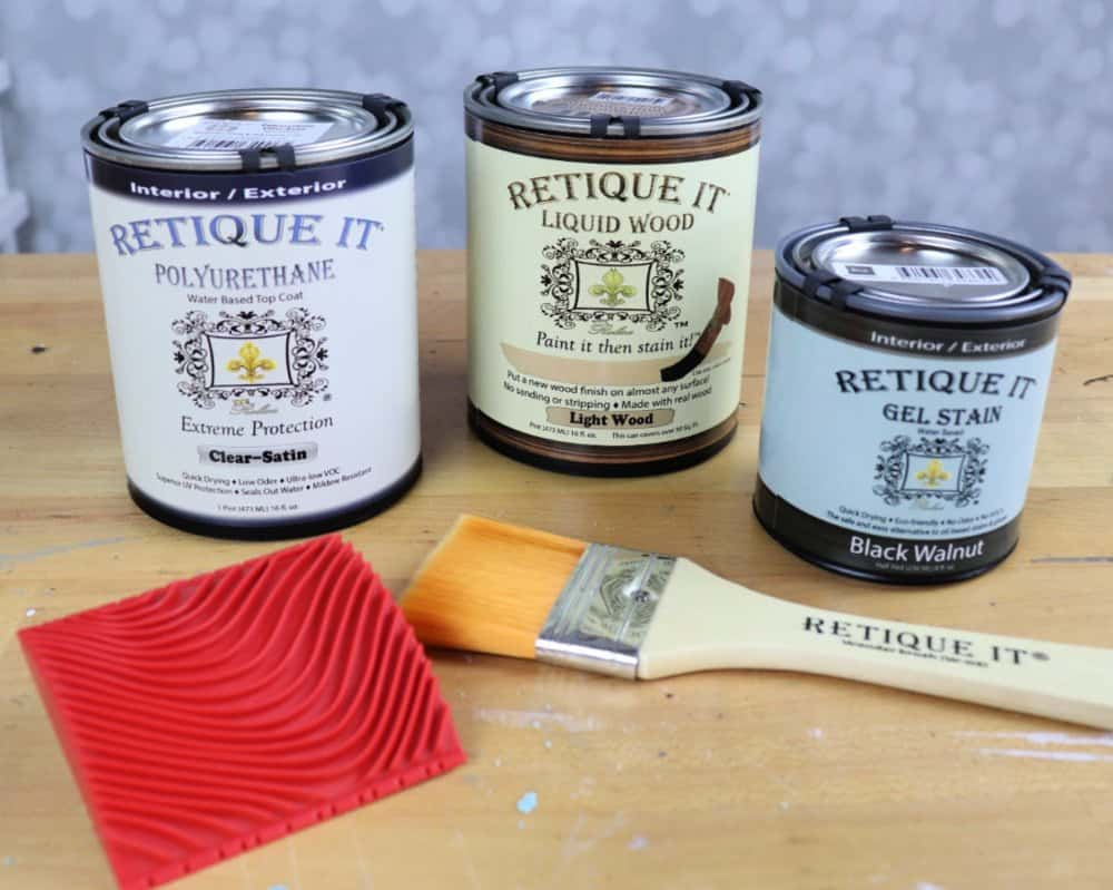 Easiest way to refinish a table - Retique It products
