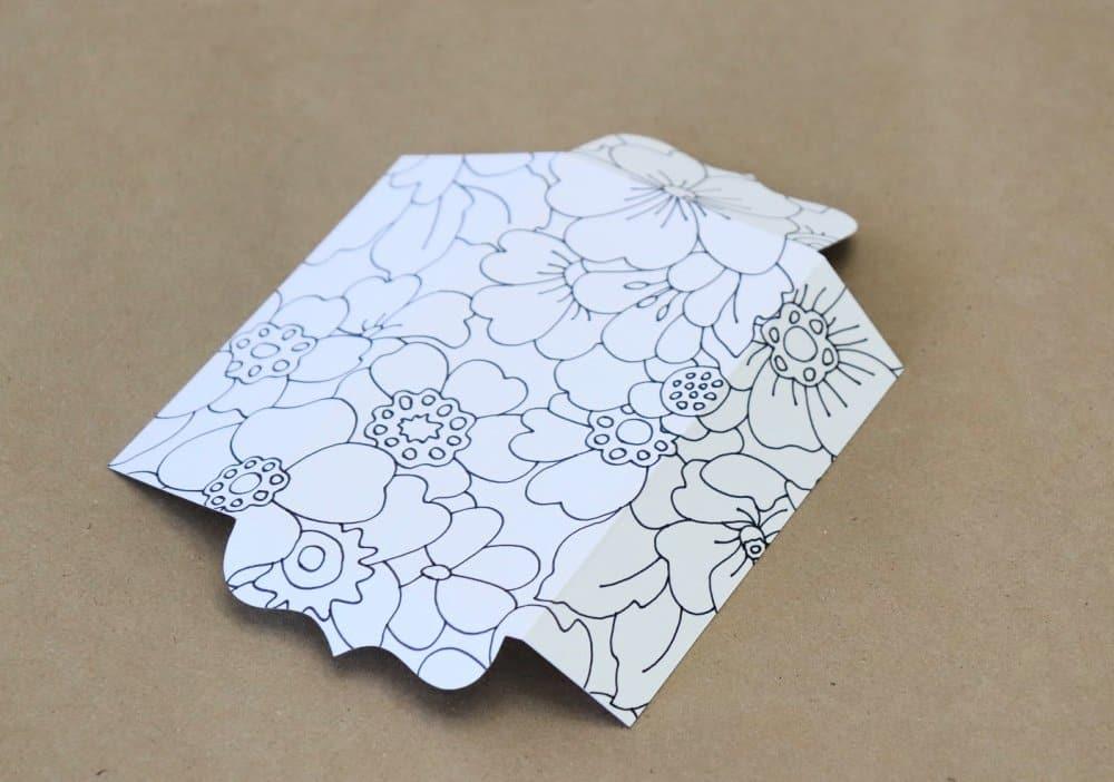 coloring bookmark off of mat