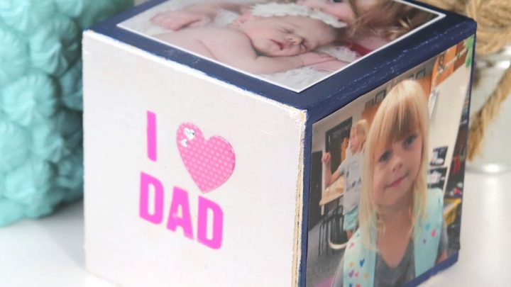 DIY photo cube for Father's Day (IG)
