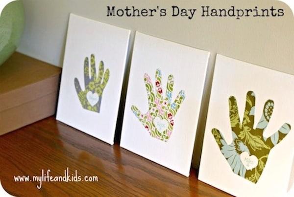 EASY KIDS' HANDPRINT ART FOR MOTHER'S DAY