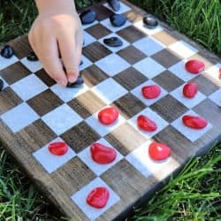 outdoor board game checkers
