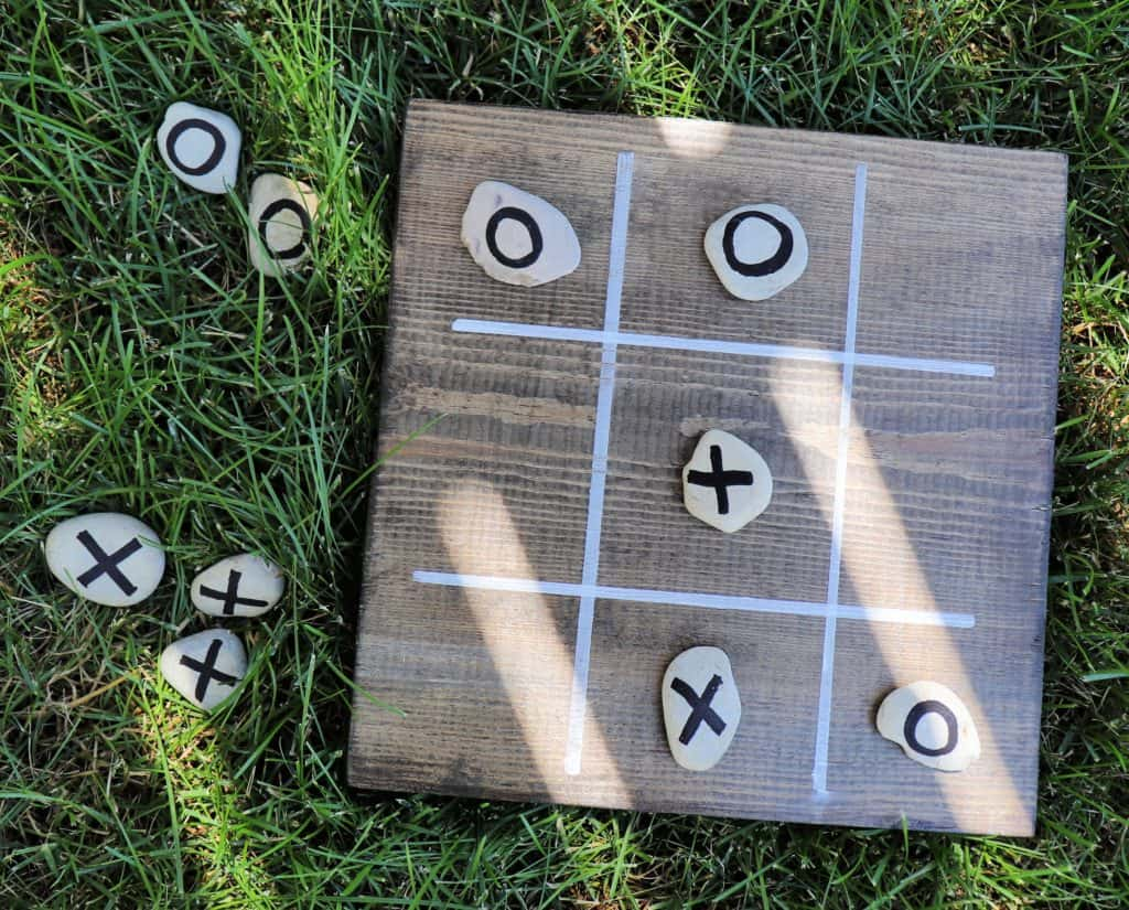 outdoor board game tic tac toe