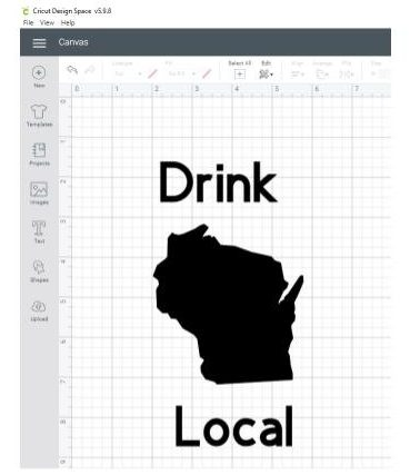 drink local design in Cricut