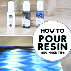 how to pour resin on wood