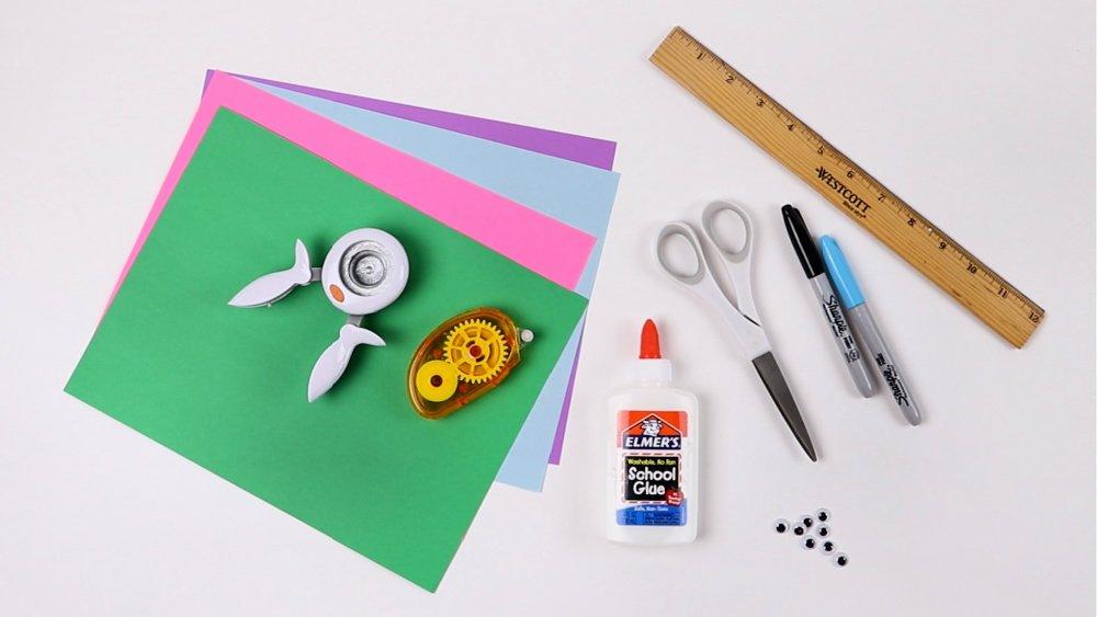 origami corner bookmark supplies