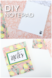 DIY notepad from scrap paper