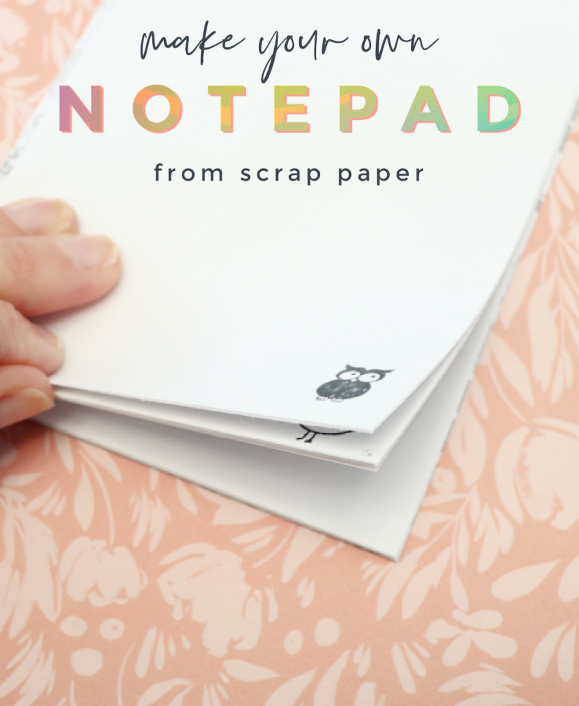 make your own DIY notepad