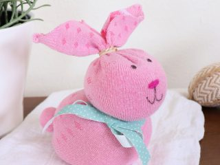 Easter sock bunny square
