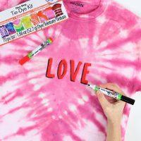 Joann heart tie-dye shirt