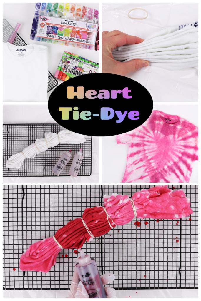 heart tie-dye