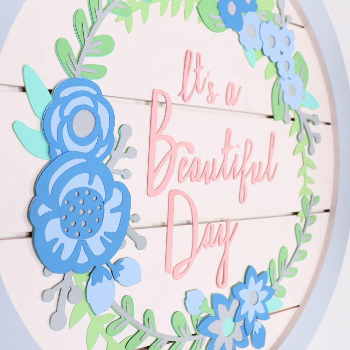 How to create layered paper art for Spring