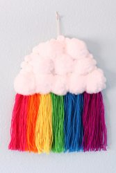 Spring craft rainbow cloud wall hanging
