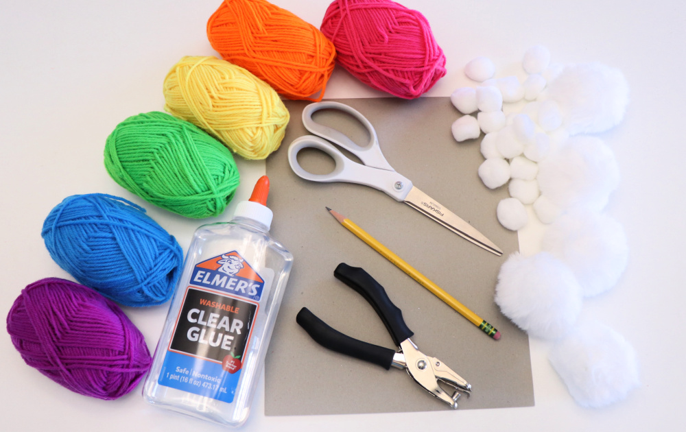 rainbow cloud yarn craft supplies