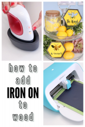 how to add iron on to wood