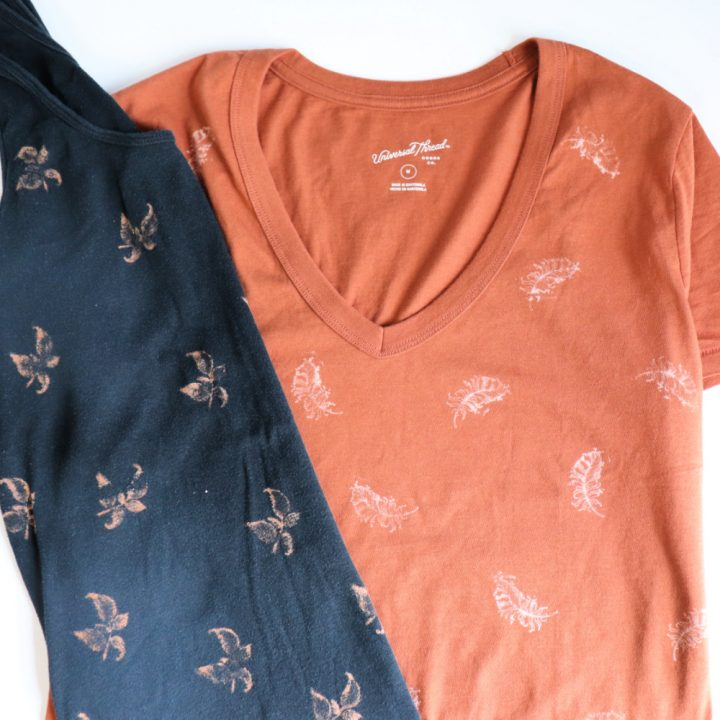 How to Stamp Fabric with Bleach