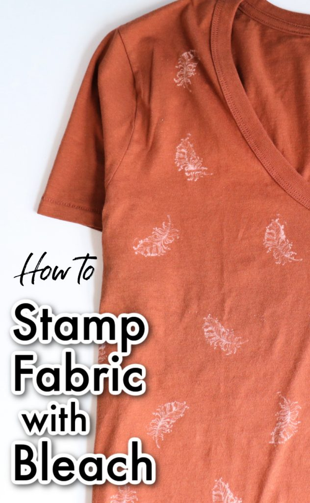 Learn how to stamp fabric with bleach