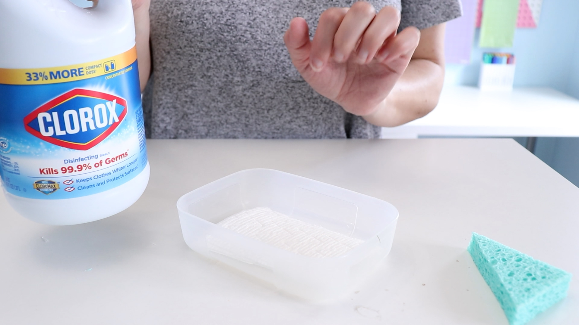 bleach in container