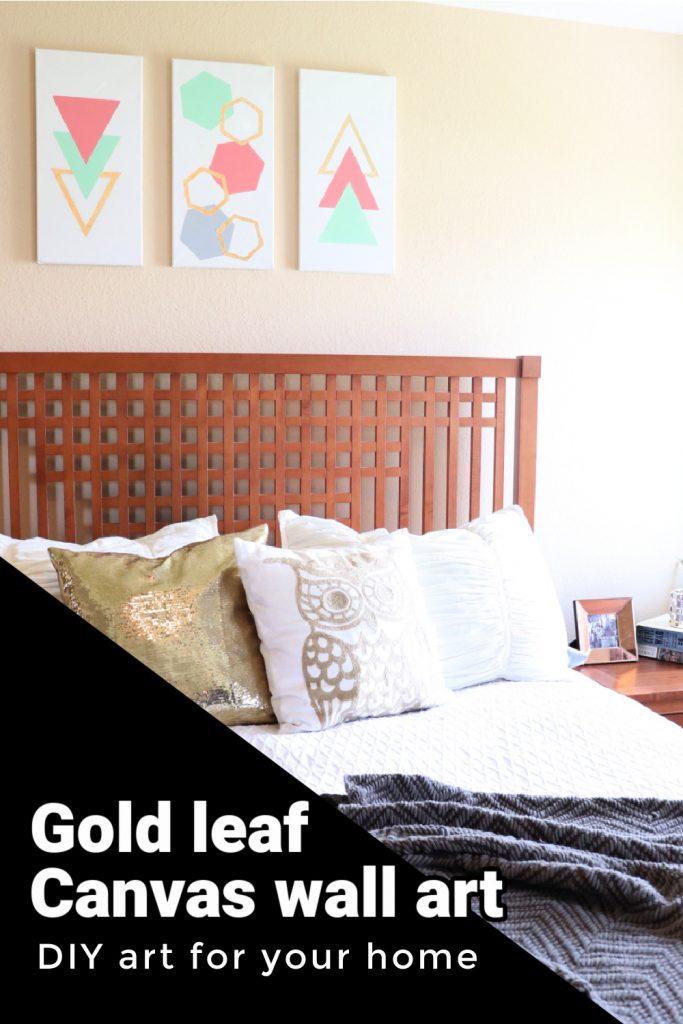 gold leaf canvas wall art