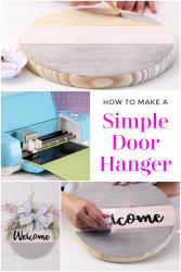 Simple door hanger with Cricut
