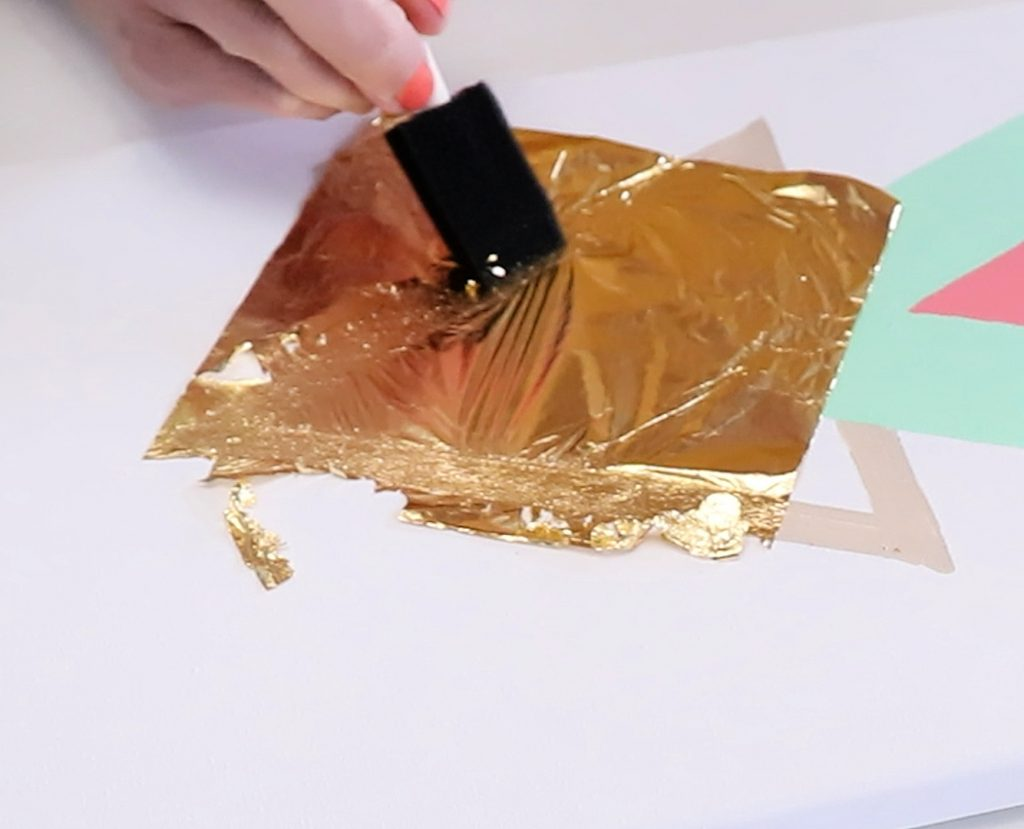 apply gold leaf to canvas