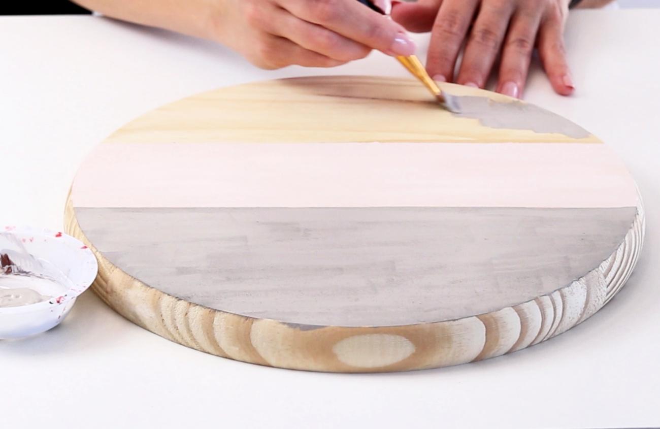 wood round door hanger painting