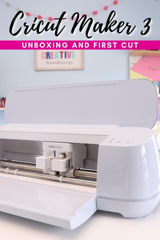 Cricut Maker 3 unbox and first cut